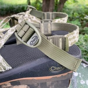 Chaco Shoes - Chaco ZCloud X2 Sandals Green Popline Boa Double 7